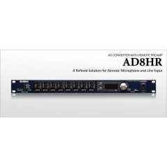 Yamaha - AD 8HR - REMOTELY CONTROLLABLE 8-CHANNEL 24-BIT HEAD AMP AND AD CONVERTER from YAMAHA with reference AD 8HR at the low