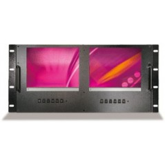 """Viewtek - LRM-8521 - 8"""" RACK MOUNT SERIAL MONITOR X 2 SCREEN from VIEWTEK with reference LRM-8521 at the low price of 396. Produ"""