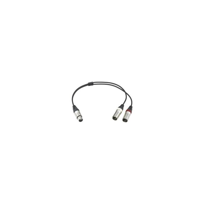Sony – EC-0.5X5F3M – MICROPHONE CABLE 5-POL XLR FEMALE TO 2X 3-POL XLR MALE