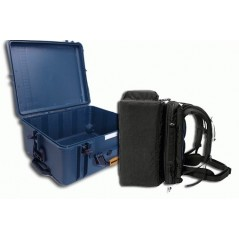 Portabrace – PB-2750ICH – HARD CASE WITH REMOVABLE INTERIOR BACKPACK – AIRTIGHT – MEDIUM – BLUE AND BLACK