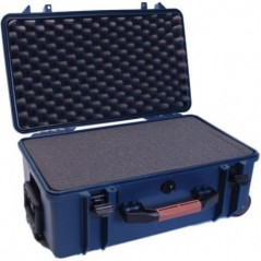 Portabrace – PB-2550F – HARD CASE WITH WHEELS – FOAM INTERIOR -AIRTIGHT – MEDIUM – BLUE