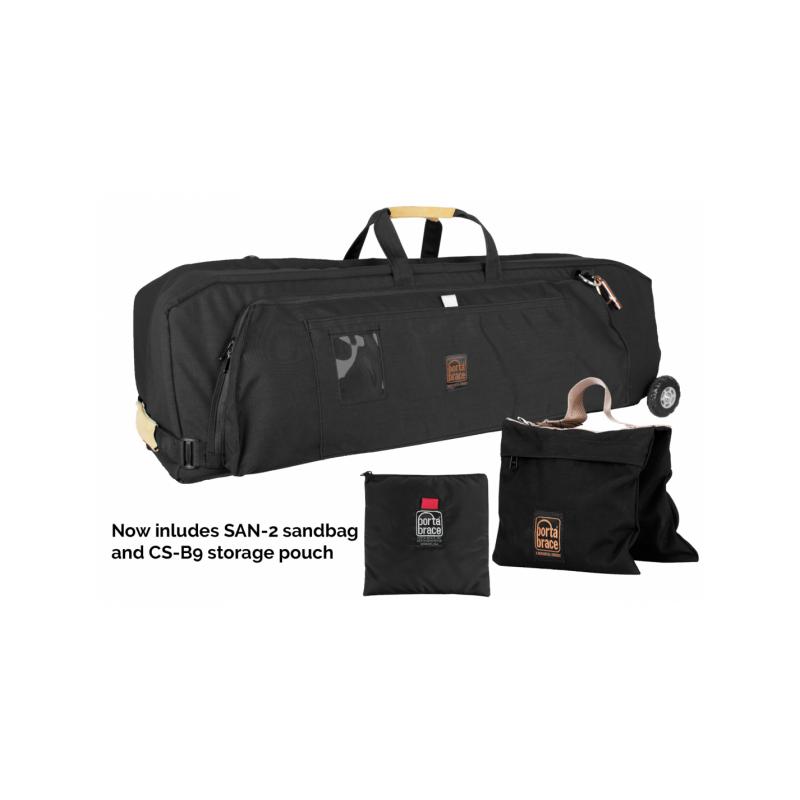 Portabrace – WCS-3ORB – WHEELED C-STAND CASE – BLACK