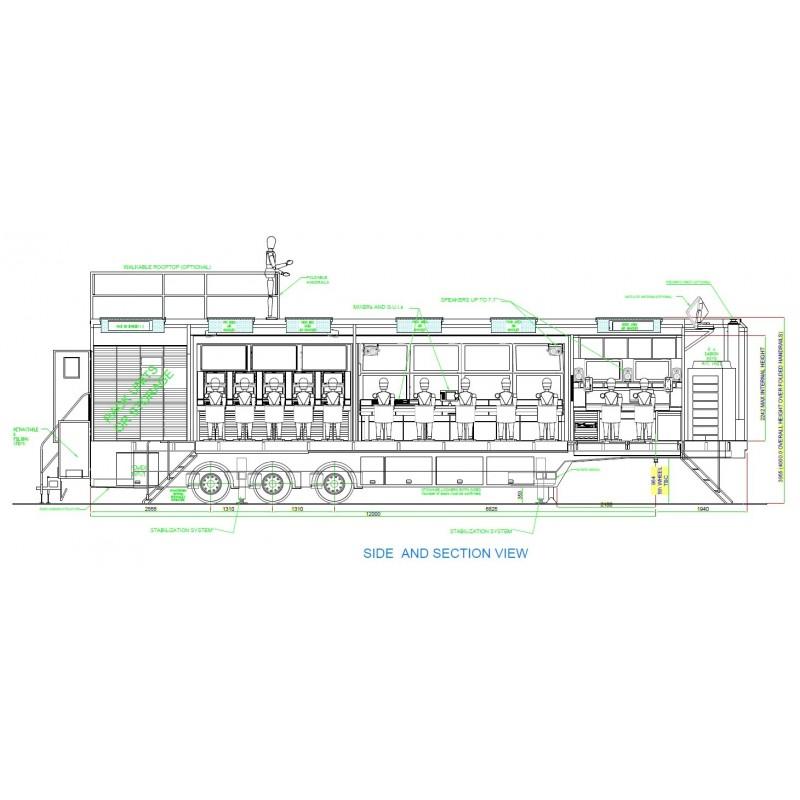 OB-VAN SEMI-TRAILER SINGLE EXPANSION – OB-VAN SEMI-TRAILER – RACK READY – FOR UP TO 12 CAM